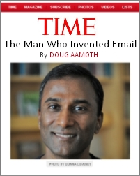 VA Shiva Ayyadurai, TIME Magazine article on The Man who Invented Email